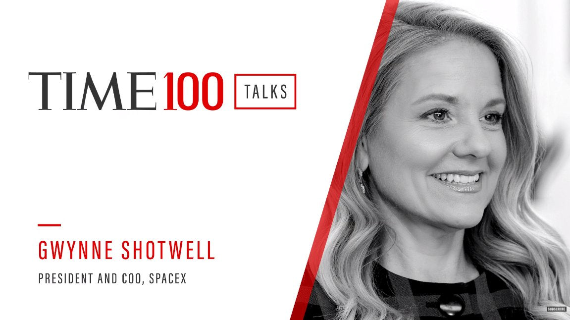 SpaceX President talks about Starship & Starlink during the 'TIME 100 Talks'