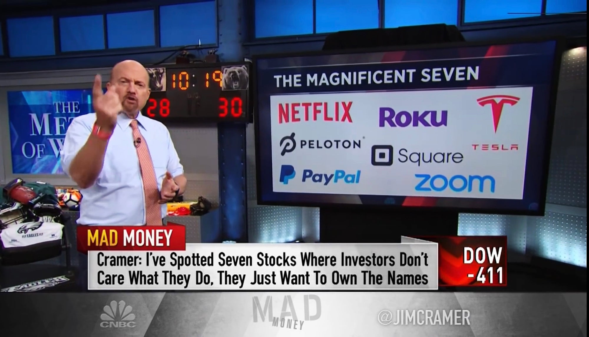 Tesla Inc TSLA Included In Jim Cramer's New 'Magnificent 7' After His Famous 'FANG'