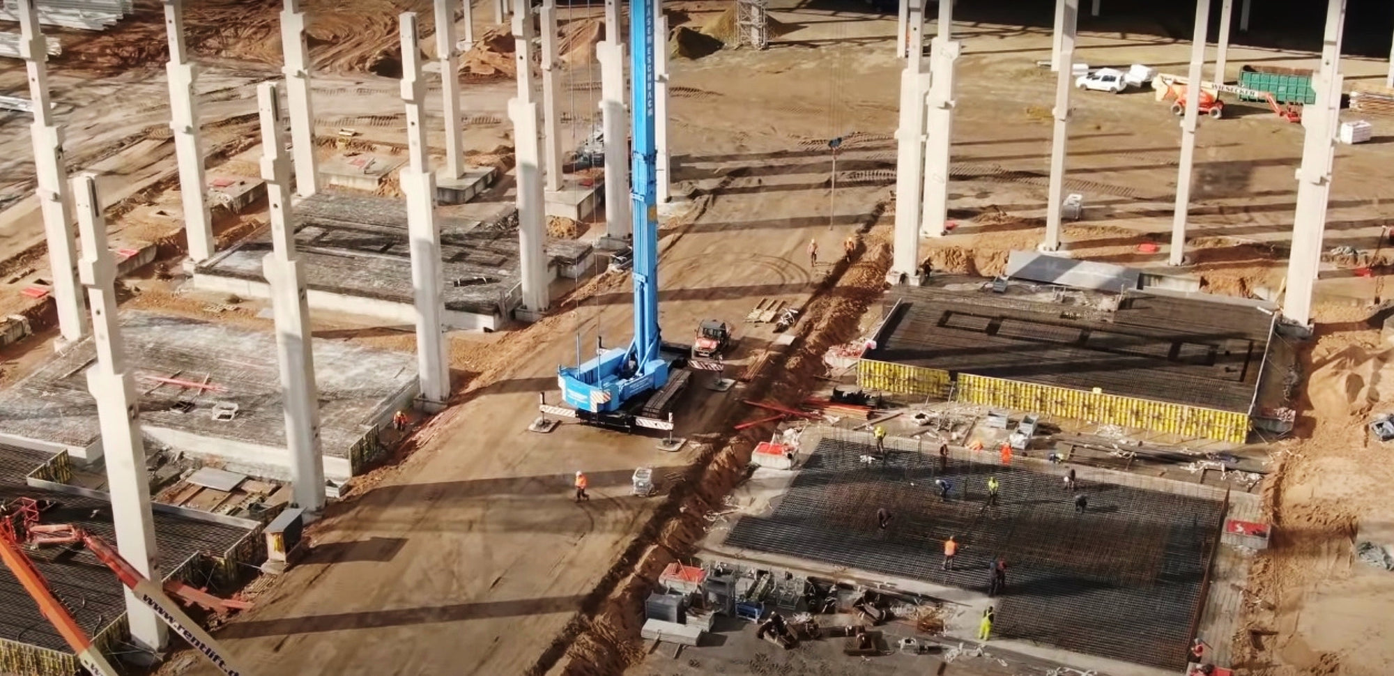 Tesla Giga Berlin Presses On: Foundation Work Starts for Giga Press Machines