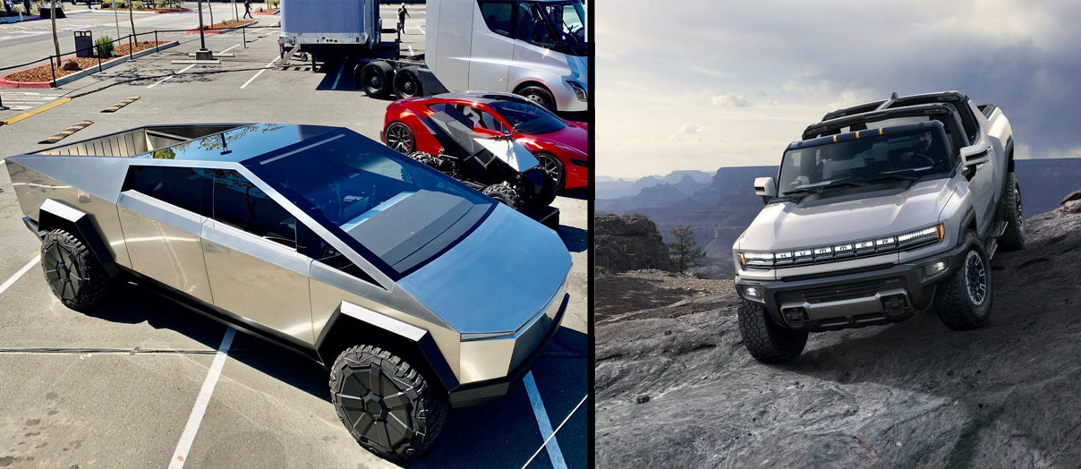 Tesla Cybertruck & GMC Hummer EV Side by Side Specs & Price Comparison