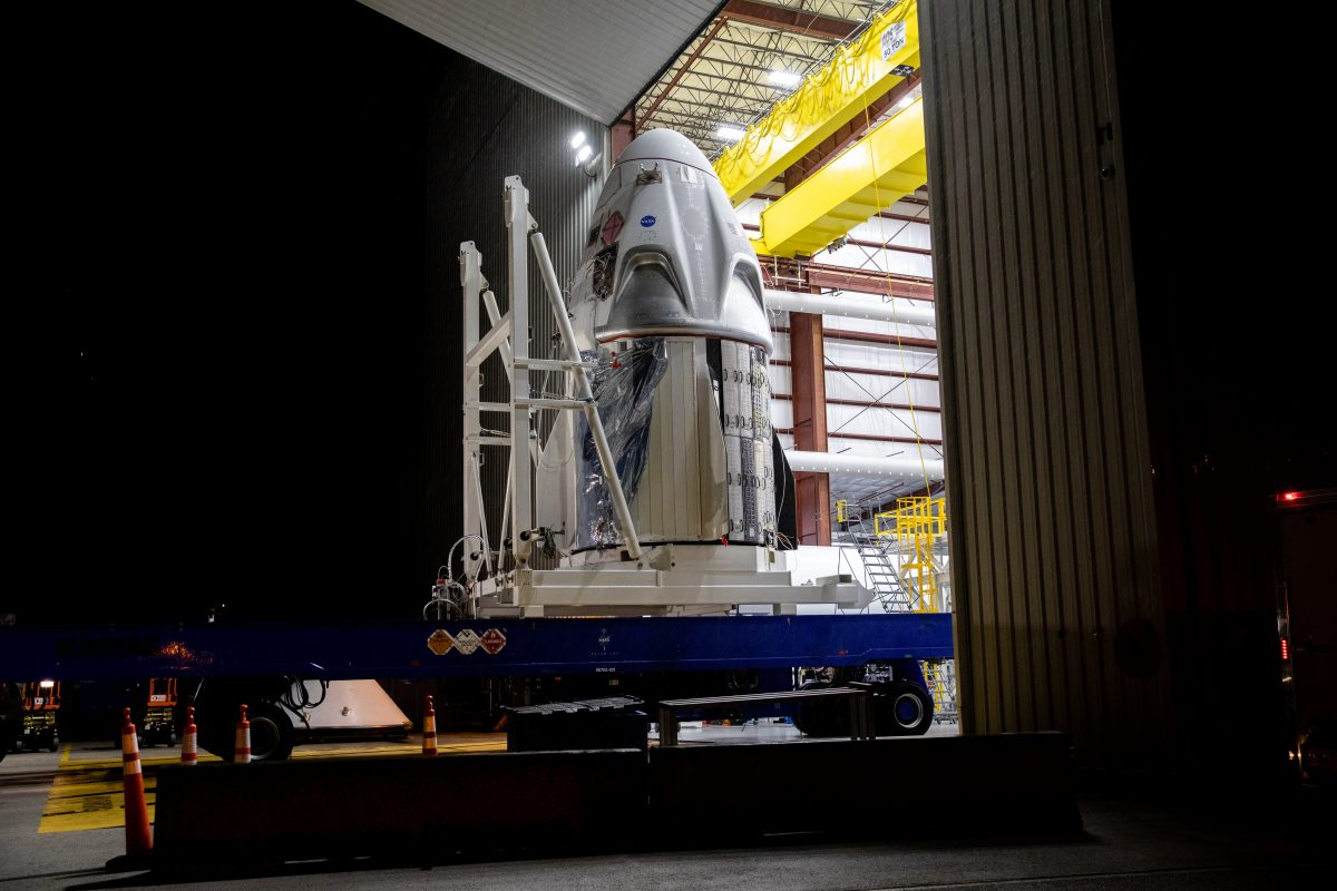 SpaceX Crew Dragon spacecraft is ready to be mounted atop Falcon 9 rocket