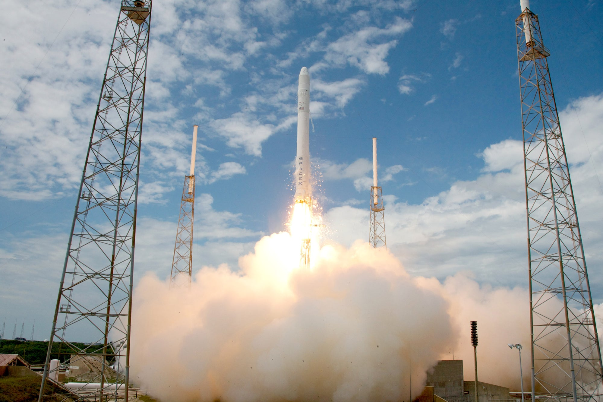 SpaceX's Falcon 9 rocket lifted off for the first time 10 years ago today