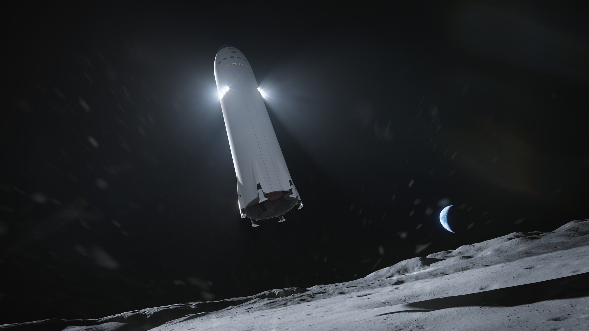 A Space Race begins as SpaceX competes to develop a Starship Lunar Lander for NASA