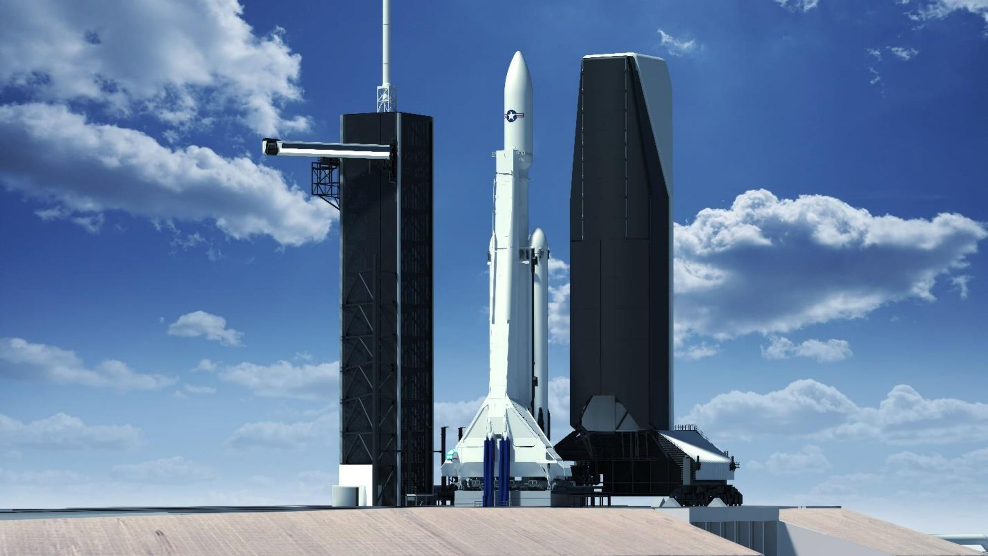 SpaceX will build an enclosed Rocket Mobile Service Tower for U.S. National Security Missions