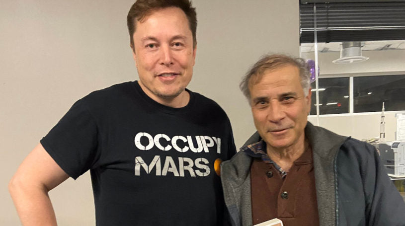 The Mars Society President Robert Zubrin conversed with Elon Musk at SpaceX Boca Chica