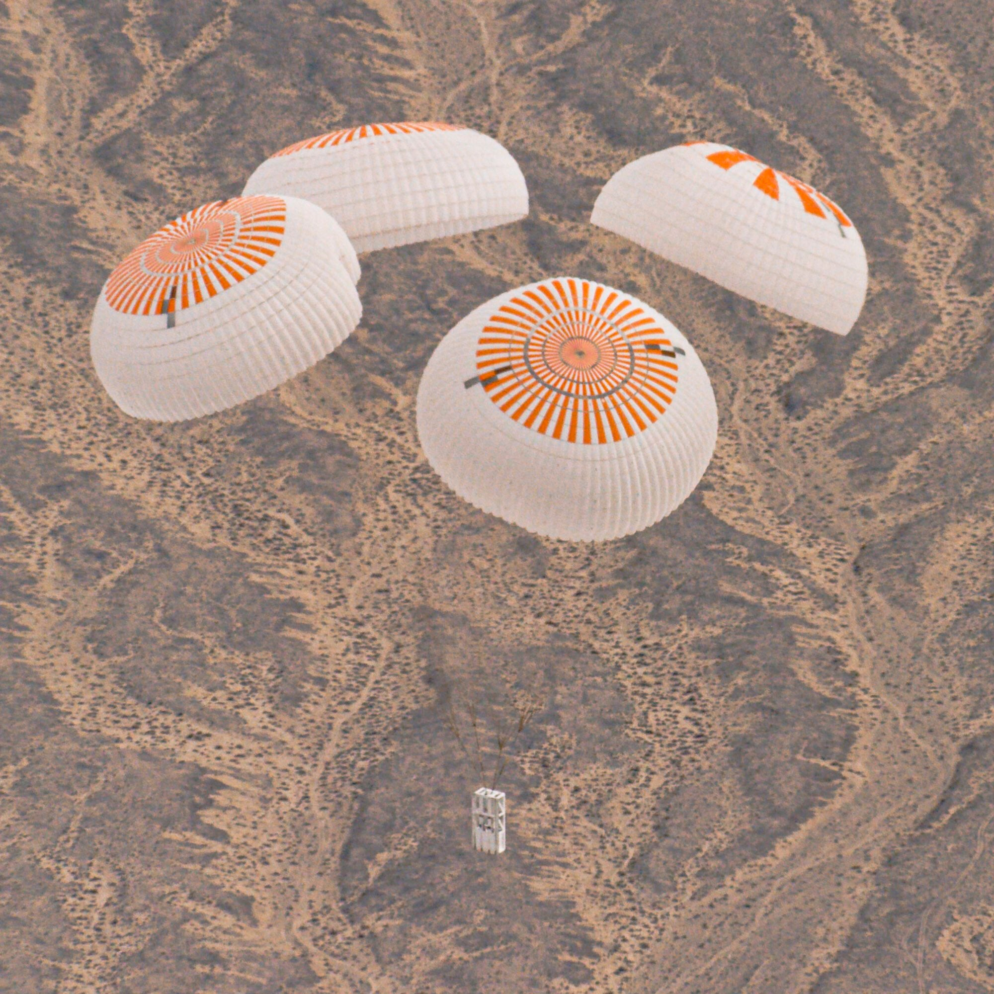SpaceX completed the 7th successful test of Crew Dragon's upgraded parachutes