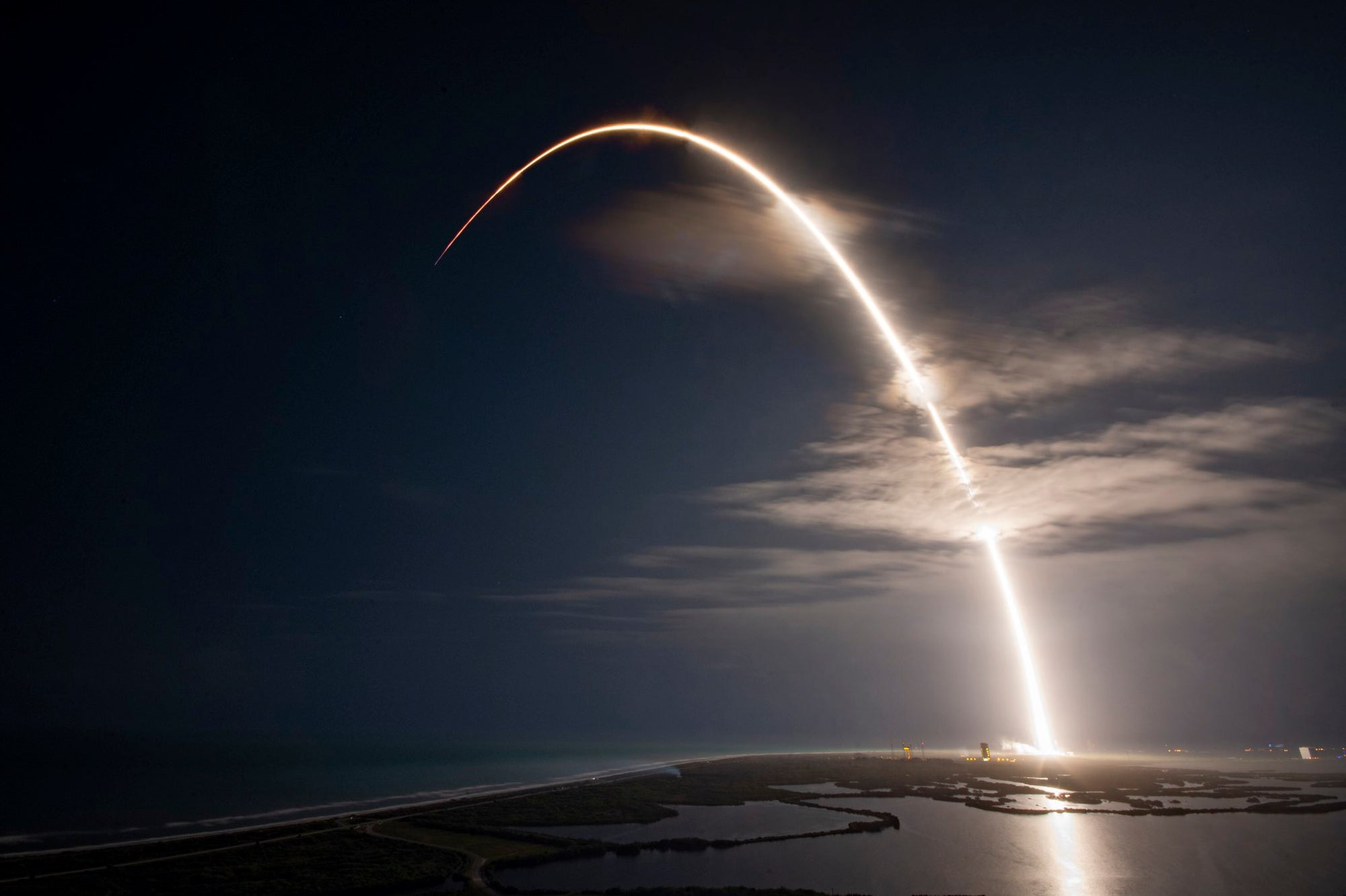 SpaceX lifts off the JCSAT-18/Kacific-1 communications satellite into orbit