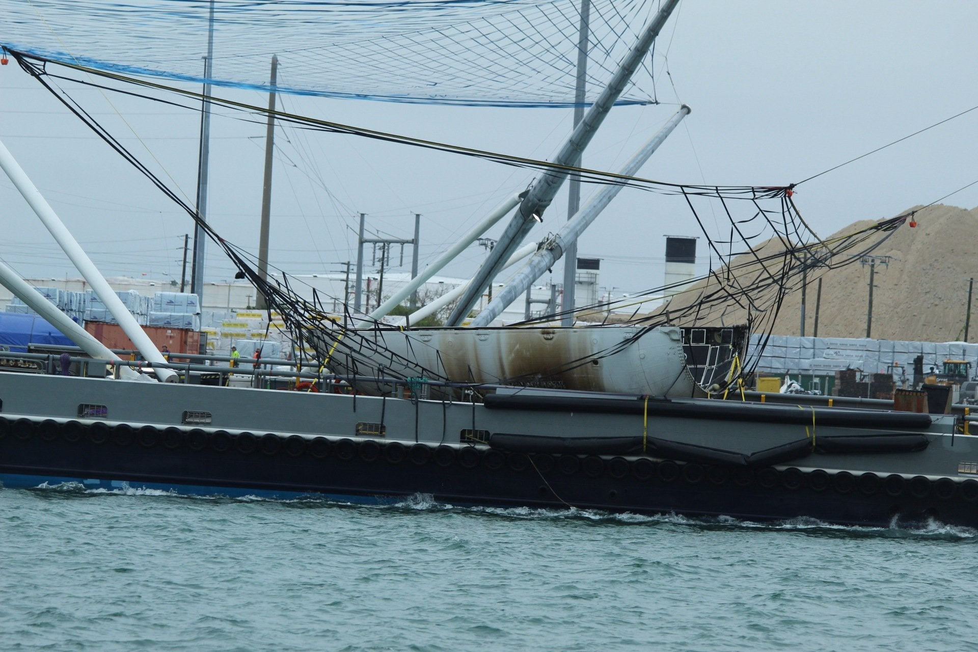"SpaceX's twin fairing catcher ships ""Ms. Chief & Ms. Tree"" come home after soft water landing"