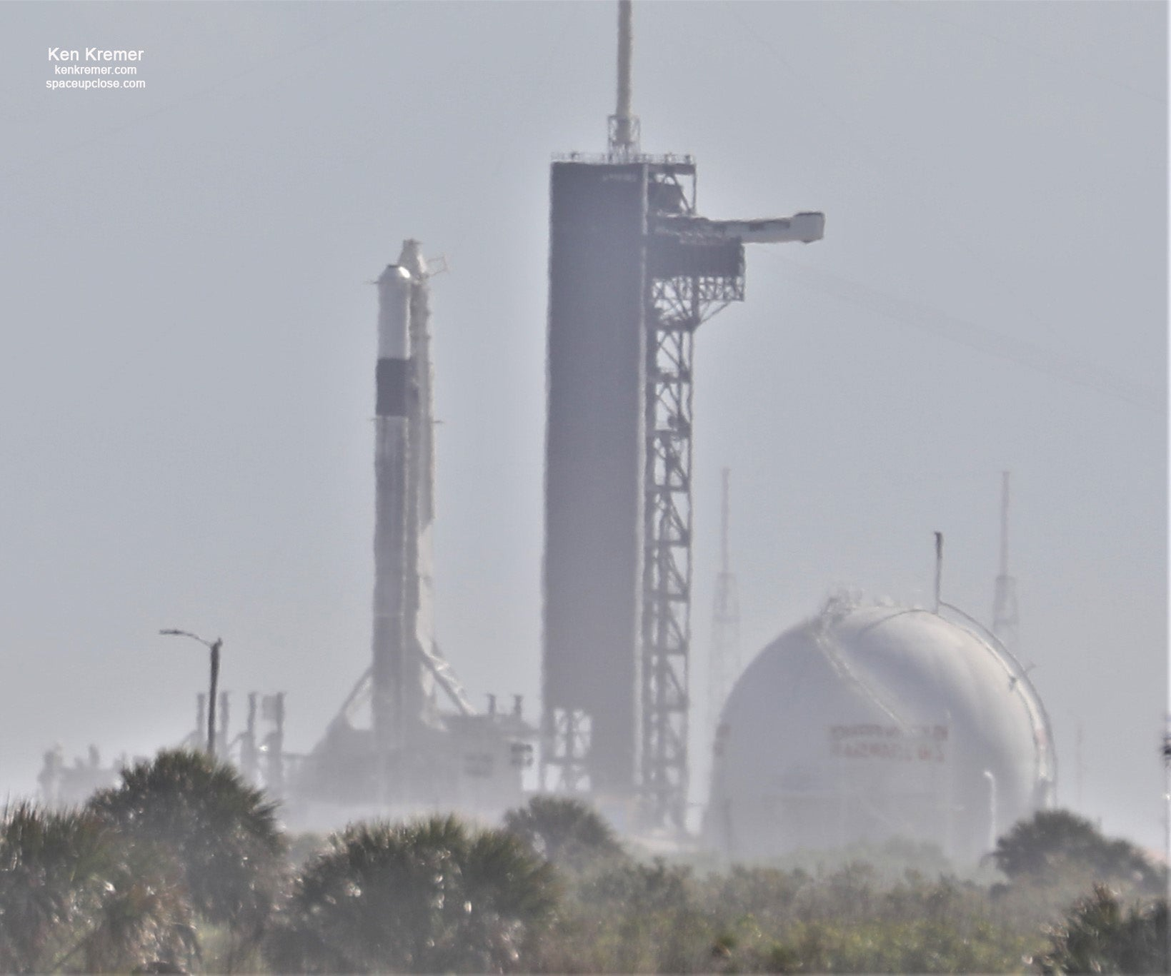 SpaceX prepares a Falcon 9 rocket for static-firing ahead of Crew Dragon's crucial test