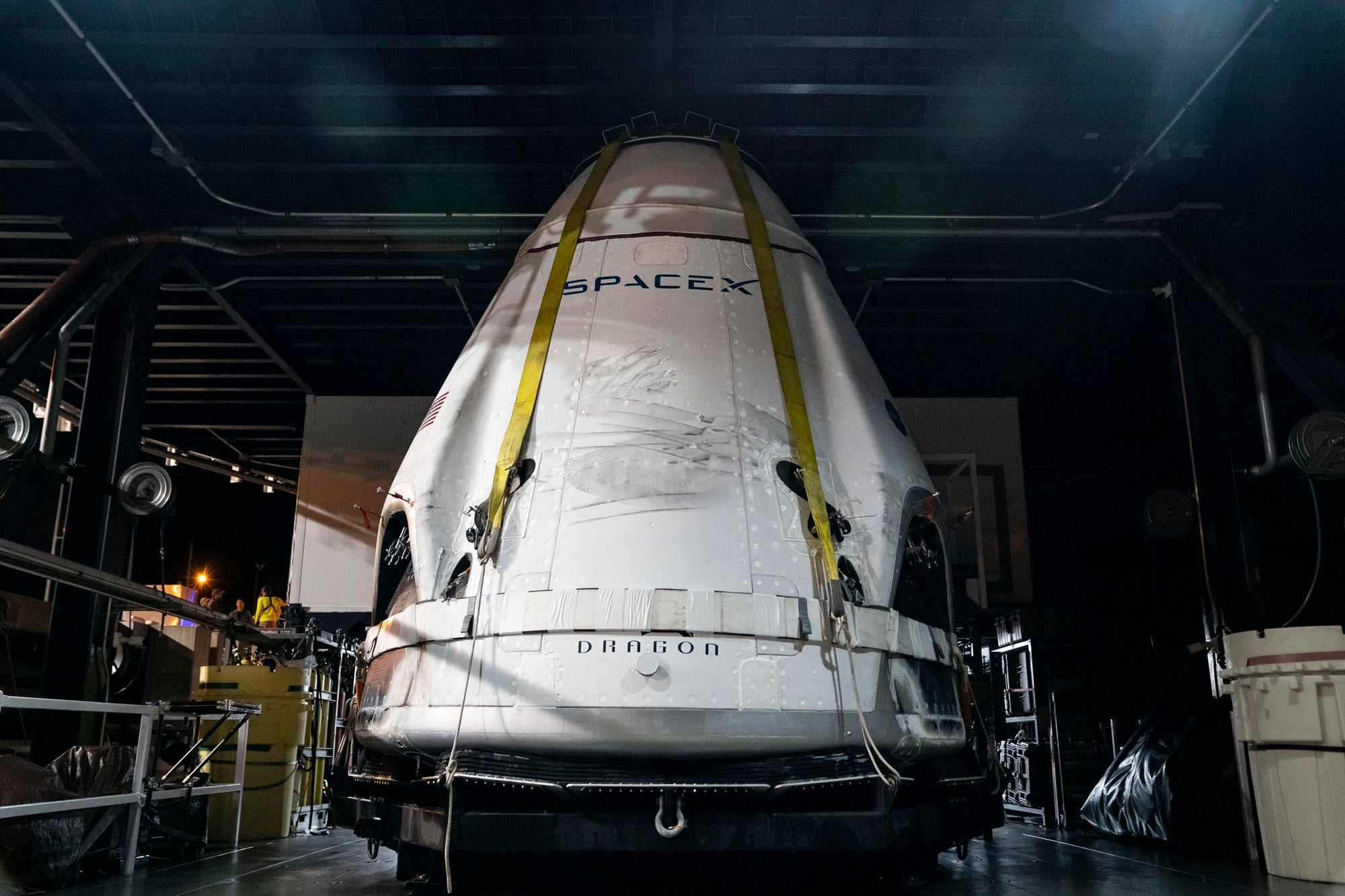 SpaceX worked in coordination with U.S Air Force to recover the Crew Dragon spacecraft after successful In-Flight Abort mission