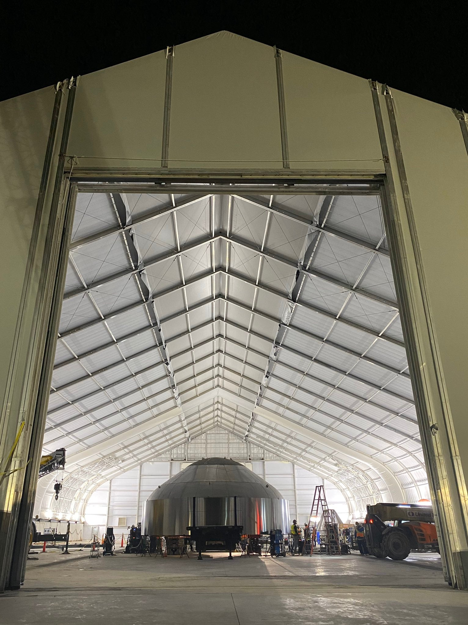 Elon Musk shares photo of SpaceX's new Starship assembly building in Boca Chica Texas