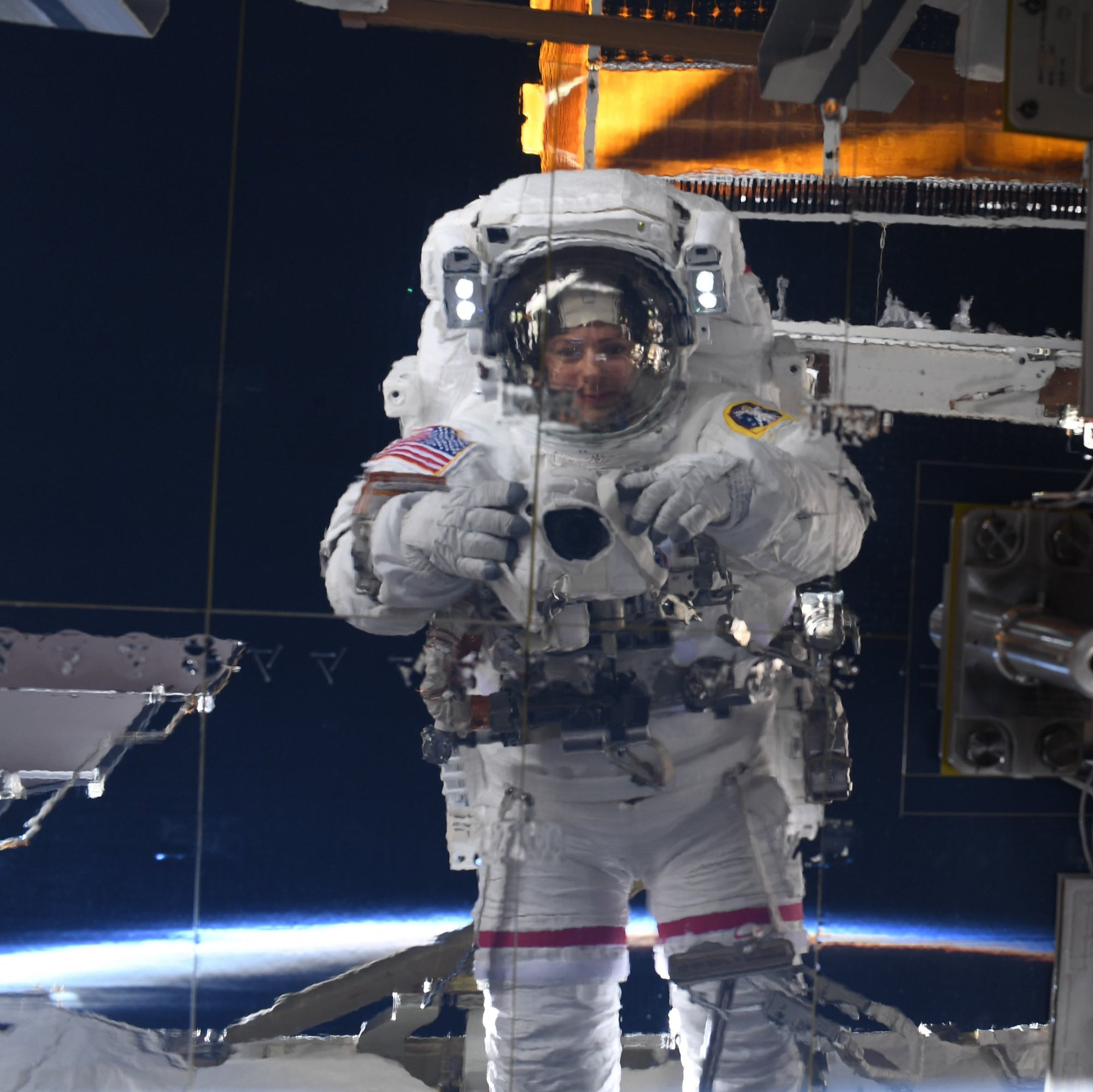 All-Female NASA Astronauts conducted a spacewalk to upgrade a Space Station's power system