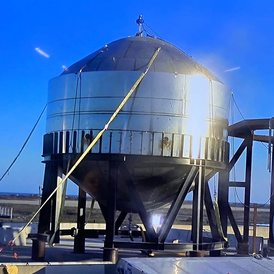 Elon Musk shared preliminary Starship dome tank test results from SpaceX Boca Chica ahead of next test