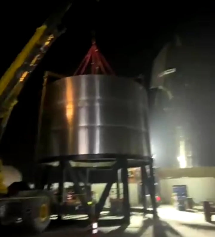 Elon Musk working at night, shares Starship SN1 progress from Boca Chica