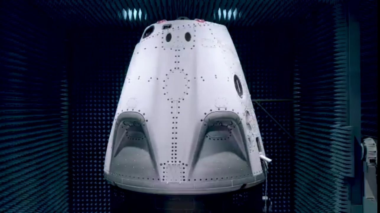 SpaceX Crew Dragon is undergoing electromagnetic interference testing in preparation to launch NASA Astronauts for the first time!