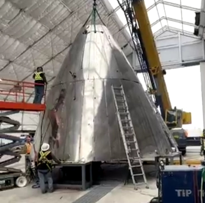 Elon Musk shares SpaceX is working on Starship nosecone production