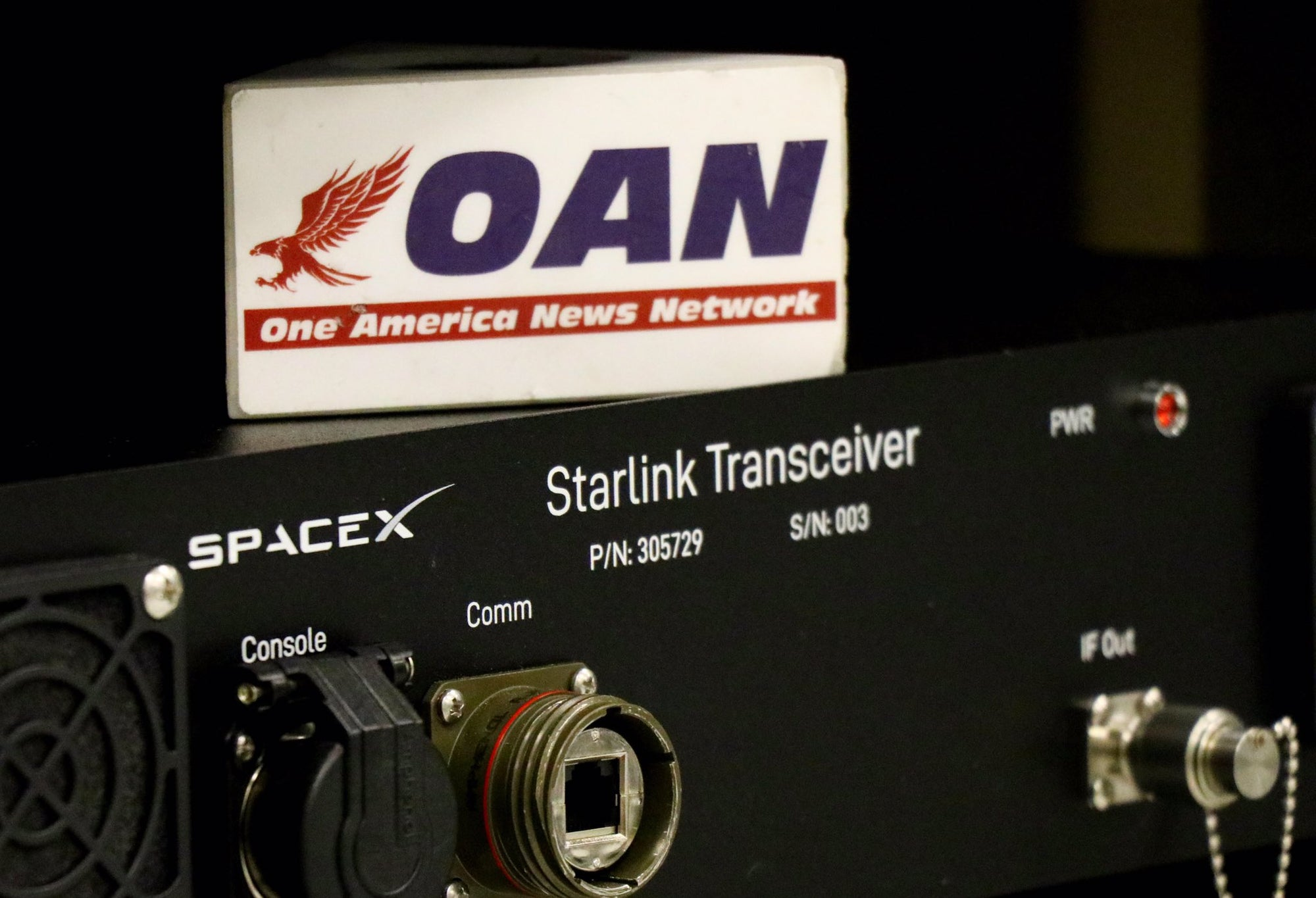 SpaceX's Starlink Transceiver revealed in a photograph