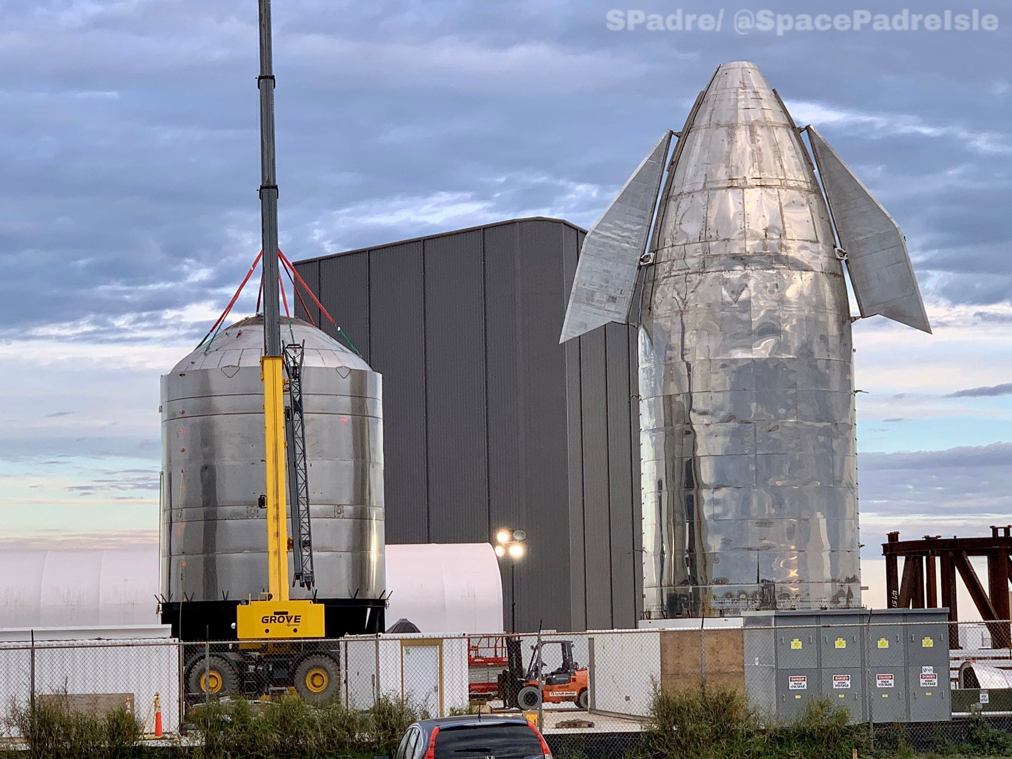 SpaceX teams started stacking Starship SN1's stainless-steel barrel and bulkhead section [VIDEO]