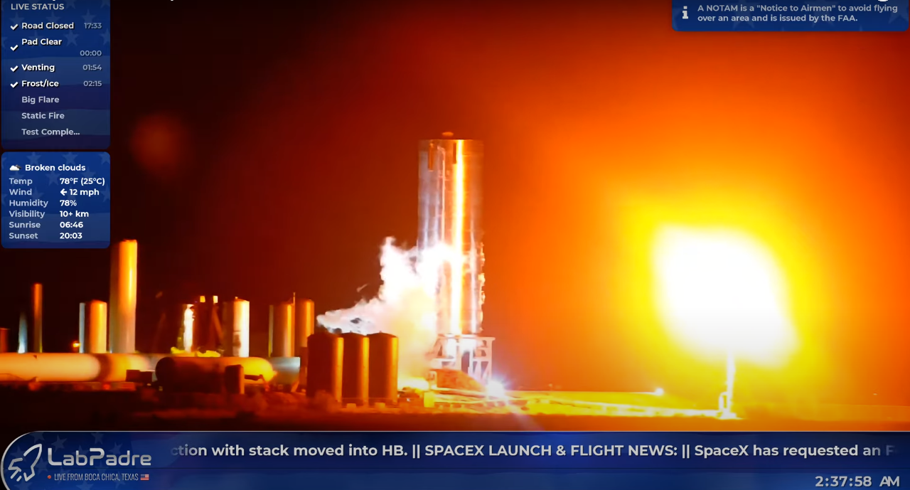 SpaceX completes another round of Starship tests at Boca Chica [Watch Live]