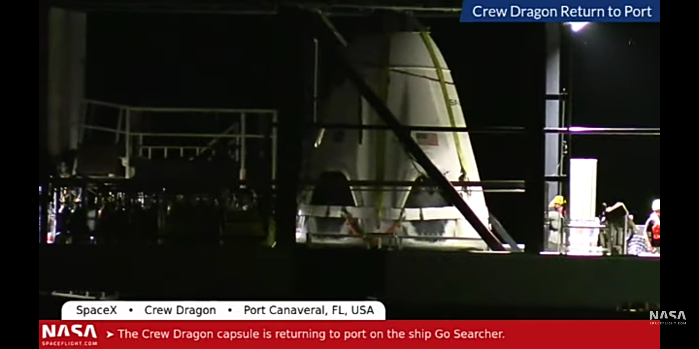 SpaceX recovered the Crew Dragon spacecraft after successful launch escape test