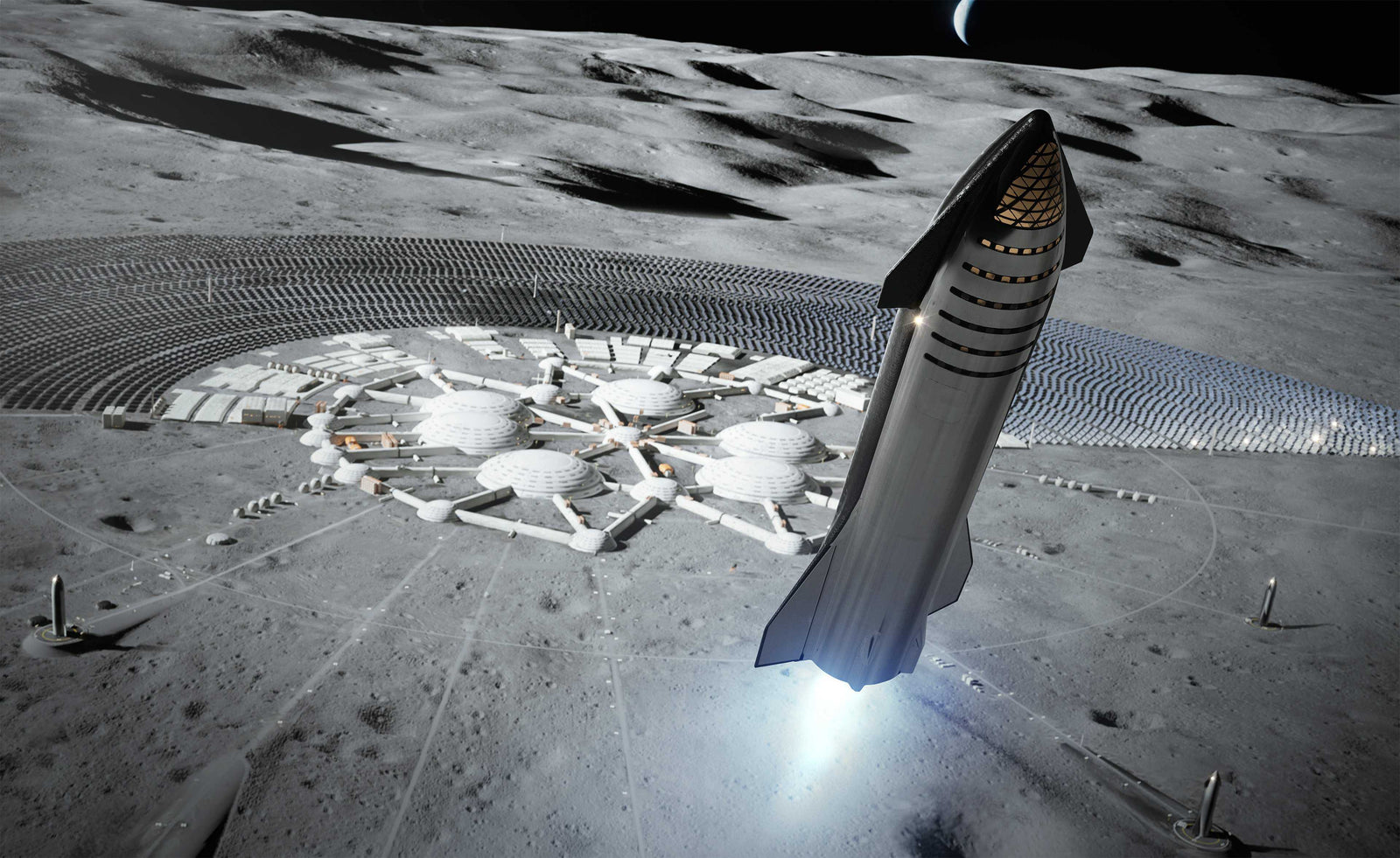 SpaceX plans to build Starships for 'Moon Base Alpha'