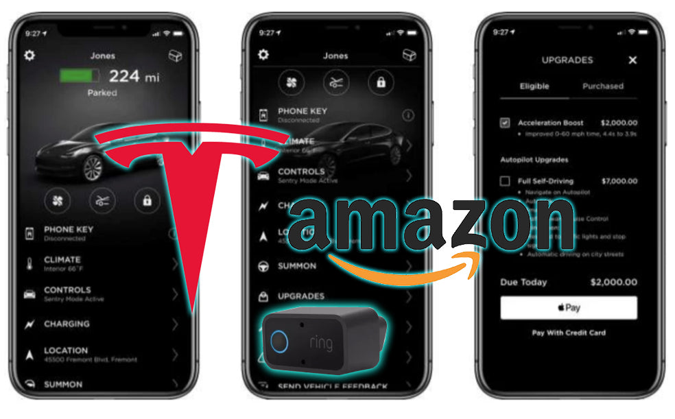 Amazon's New Ring 'Car Connect' Camera Security System is Compatible with Tesla Models