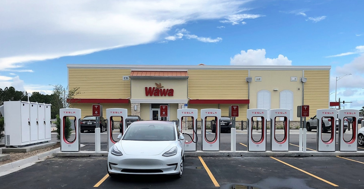 Tesla-Supercharger-NJ-Wawa