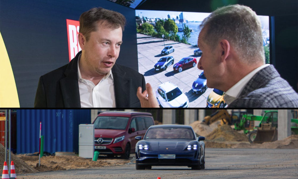 VW & Tesla CEOs Met During Elon Musk's Germany Visit + Porsche Taycan Spotted at Giga Berlin