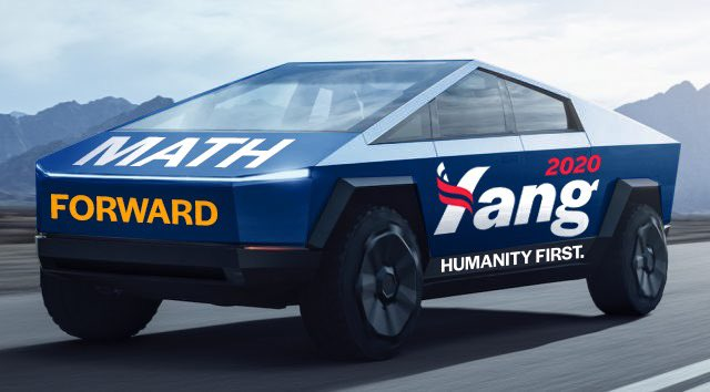 Tesla-Cybertruck-2020-Presidential-Campaign-Andrew-Yang