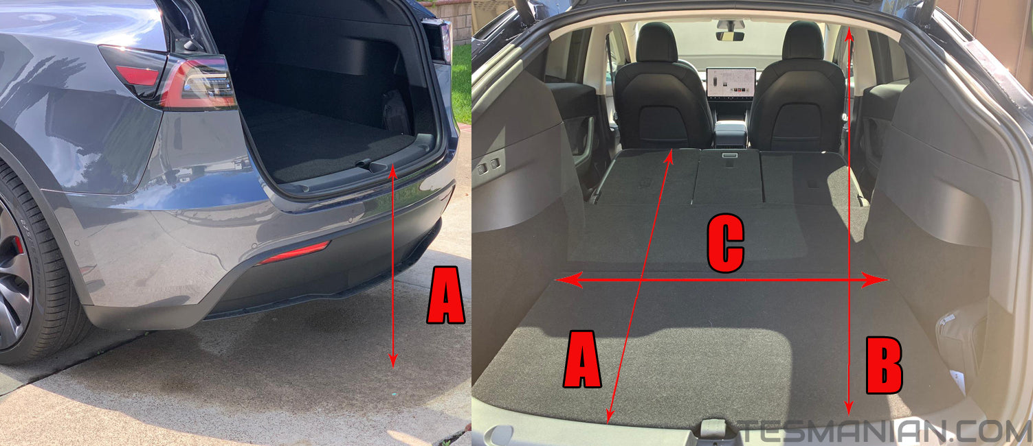 Tesla Model Y Interior, Trunk, Trunk Well, Frunk and Other Measurements