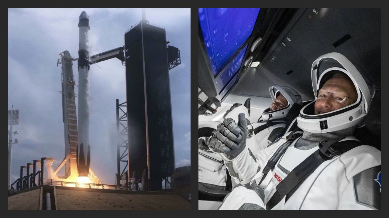 SpaceX successfully launches NASA Astronauts to the Space Station, igniting a new era in American spaceflight!