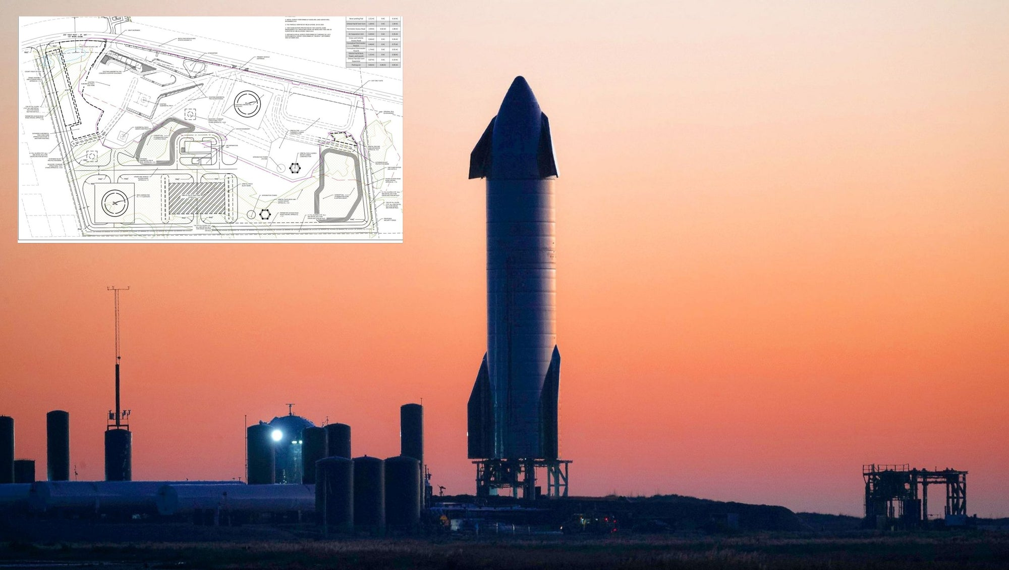 Detailed Map Shows SpaceX Plans For The South Texas Starship Launch Site
