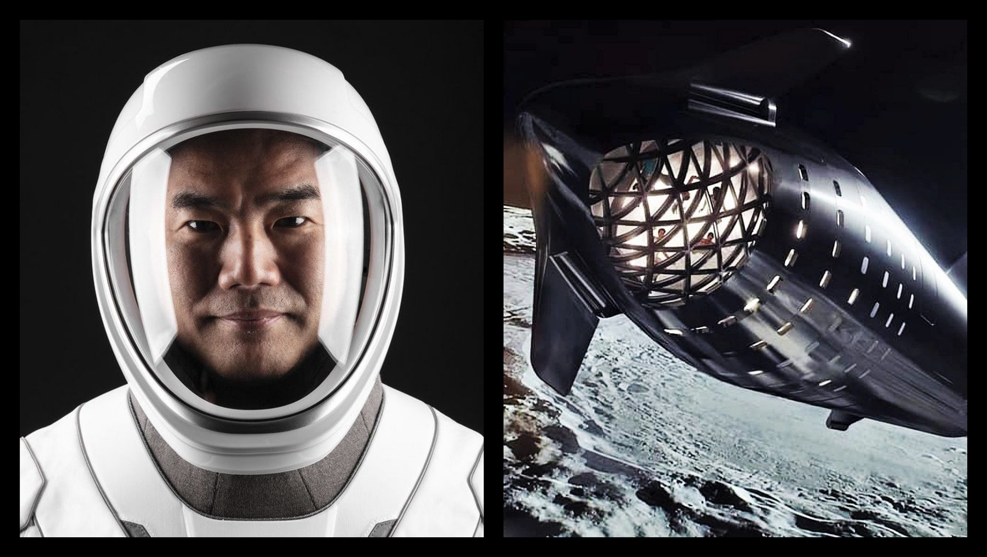Japanese Astronaut contemplates riding SpaceX's Starship during the 'Dear Moon' voyage