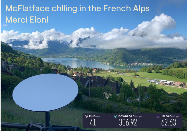 SpaceX Starlink Beta User Shares Internet Speed From The French Alps