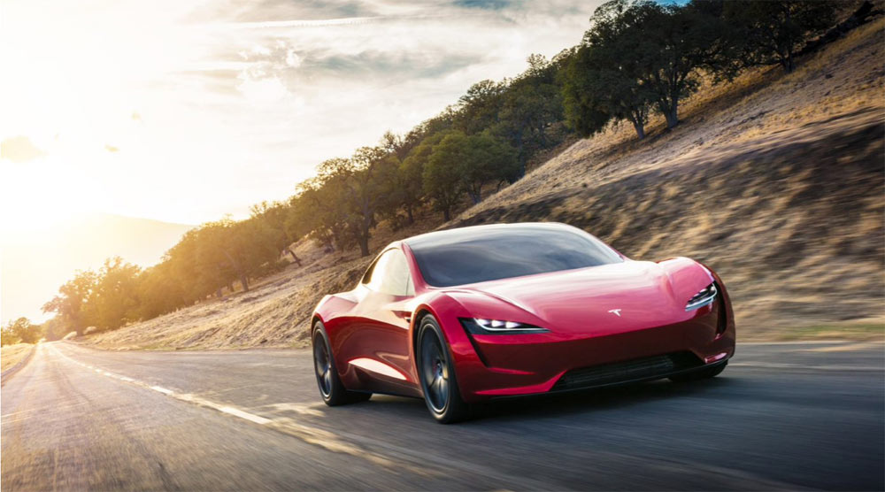 Tesla Roadster - Red