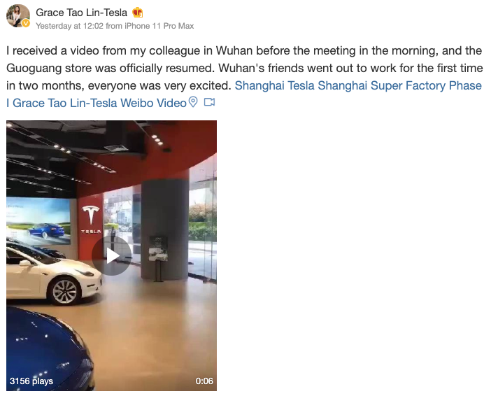 Tesla-Laden-Wuhan