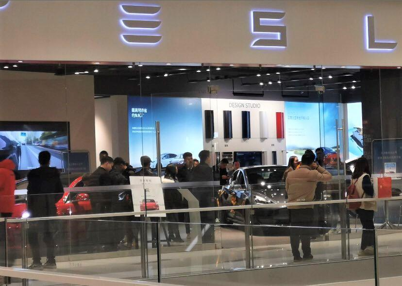 Tesla China Stores Delivery