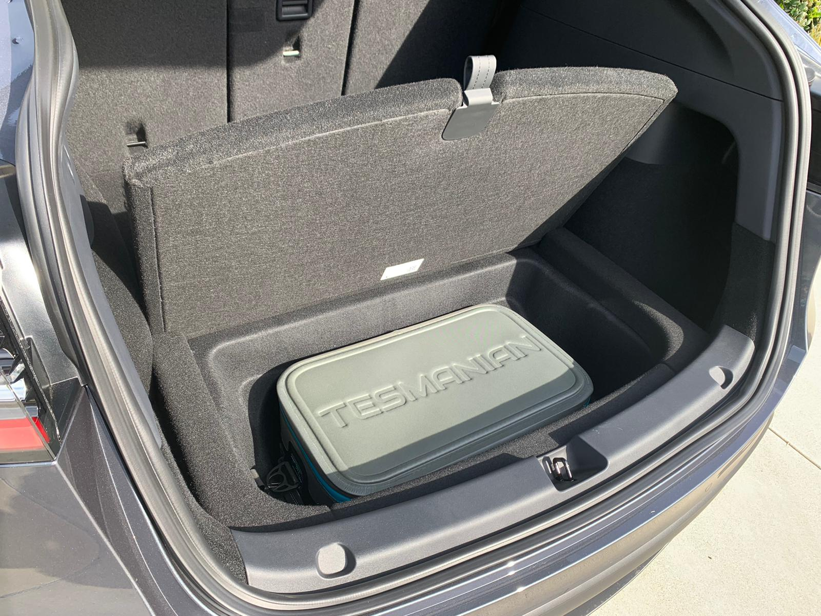 Tesla Model Y Soft Cooler in Rear Trunk well