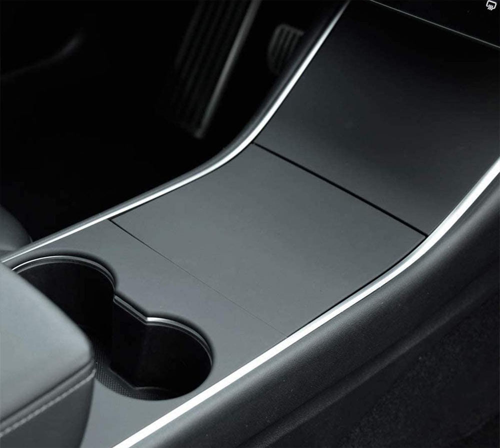 Tesla Model 3 Center Console Covers - Matte Black