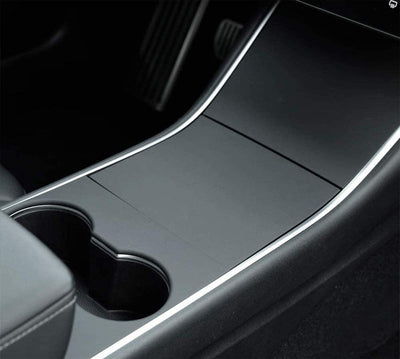 Tesla Model 3 Center Console Covers - Matte Black - 4