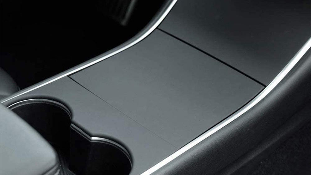 Tesla Model Y Center Console Covers - Matte Black