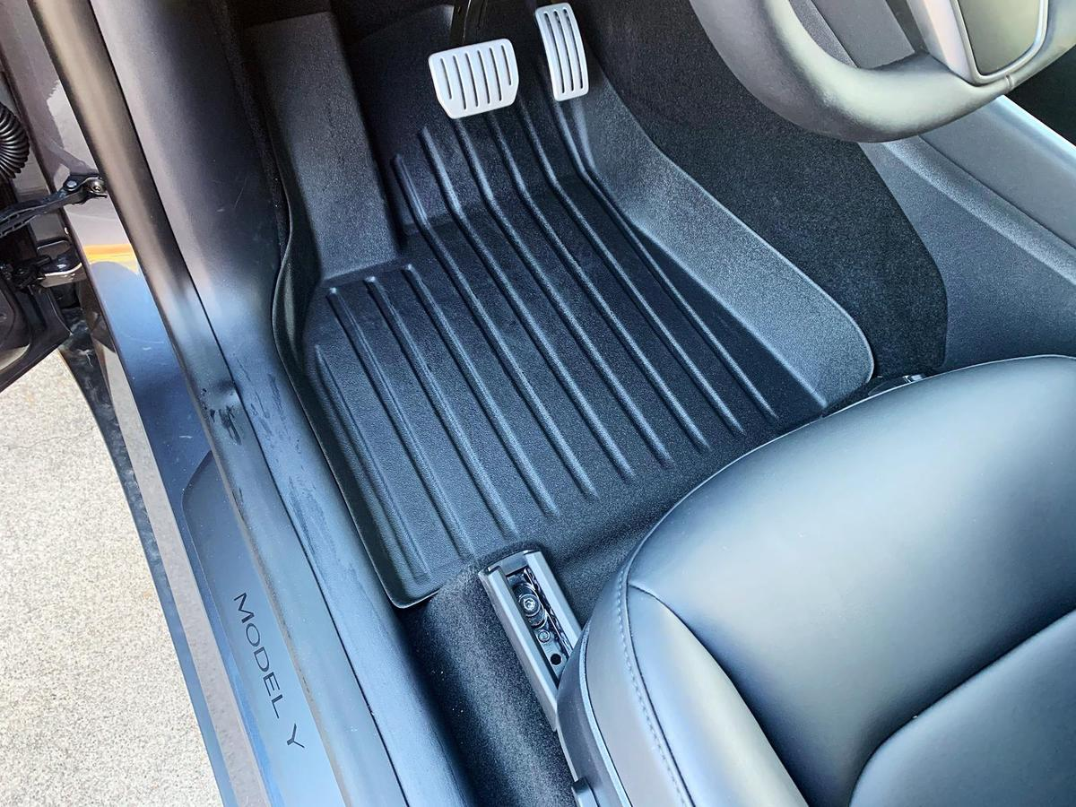 Tesla Model Y Floor Mat (Driver side) - Installed