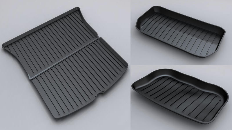 Tesla Model Y Rear Trunk & Trunk Well & Front Trunk Mats