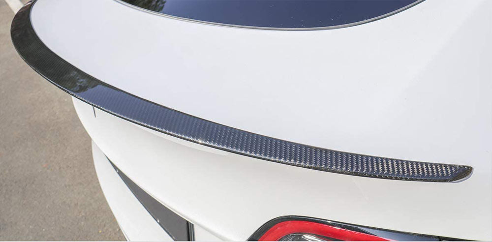 Tesla Model Y Rear Trunk Carbon Fiber Spoiler - Glossy