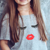 EYELASHES AND LIPS - BABY SHIRT