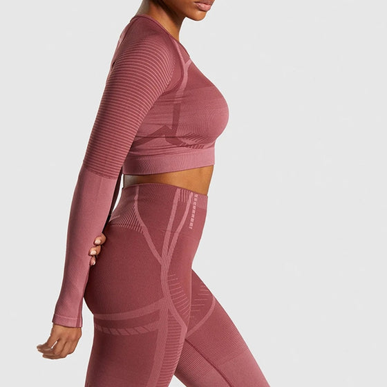 2 Piece Geo Seamless Yoga Sets - DiPrié