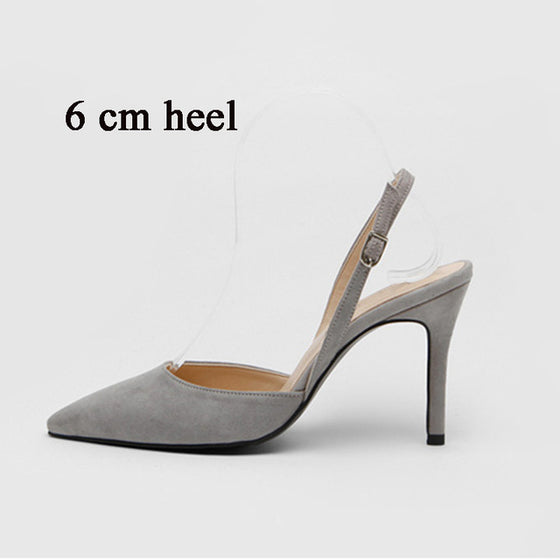MONMOIRA Solid High Heel Slingback Sandals Women Pointed Toe Elegant Heel Sandals Red Sandalias Mujer Sandale Femme SWB0091 - DiPrié
