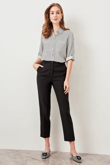 Basic black Formal Trousers - DiPrié