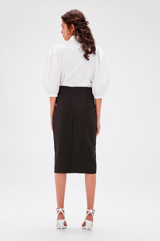 Black Cut Skirt - DiPrié
