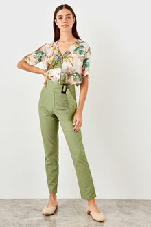 Khaki Belt Pants - DiPrié